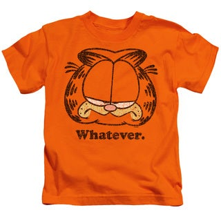 Garfield/Whatever Short Sleeve Juvenile Graphic T-Shirt in Orange
