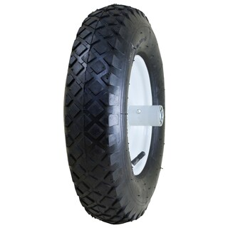 Marathon Industries 20047 4.80/4.00-8-inch Pneumatic Knobby Tread Wheelbarrow Tire