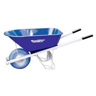 Marathon Industries 70002 6 Cubic Feet Steel Wheelbarrow