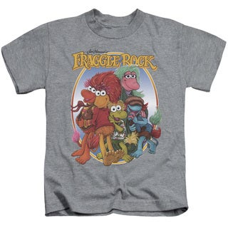 Fraggle Rock/Group Hug Short Sleeve Juvenile Graphic T-Shirt in Heather