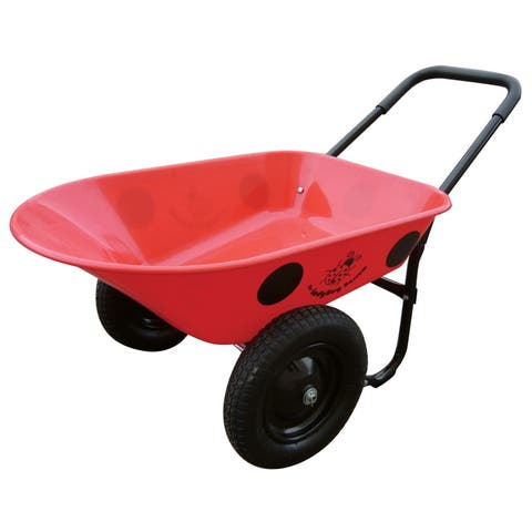 Marathon Industries 70011 5 Cubic Feet Ladybug Poly Wheelbarrow