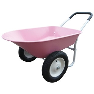 Marathon Industries 70013 5 Cubic Feet Pink Poly Wheelborrow