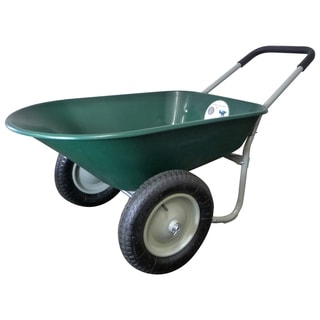 Marathon Industries 70015 5 Cubic Feet Green Poly Wheelbarrow