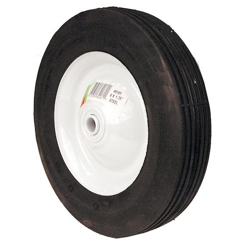 Maxpower 335181 8-inch x 1.75-inch Ribbed Tread Steel Wheel