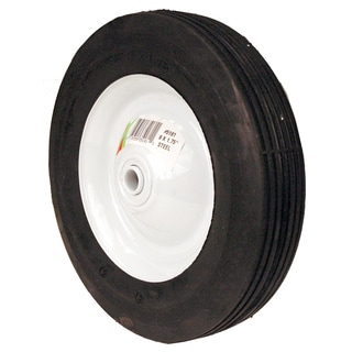 Maxpower 335181 8-inch x 1.75-inch Ribbed Tread Steel Wheel