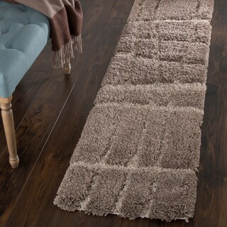 "Windsor Home Everest Shag Sculptured Stripes Rug (1' 8"" x 7')"