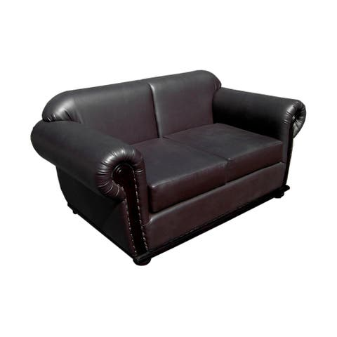 Handmade D-Art Carter Dark Brown Loveseat (Indonesia)