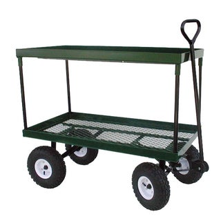 Millside Industries Inc. 1742 20-inch X 38-inch Metal Double Decker Wagon With Deck