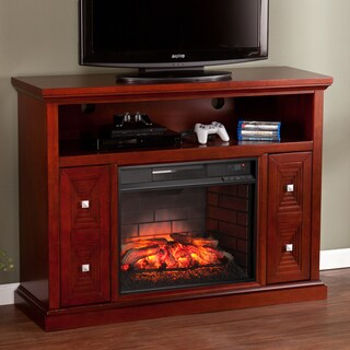 Harper Blvd Baxter Cherry Media Console/ Stand Infrared Electric Fireplace