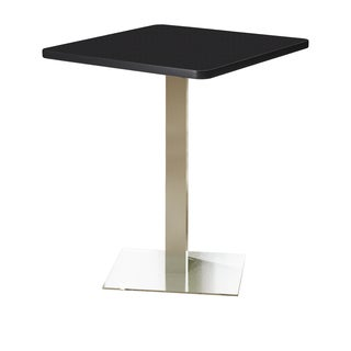"""Mayline Bistro Series 36"""" Stainless Steel Black Square Bar Height Table"""