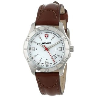 Wenger Men's 70490 'Alpine' Brown Leather Watch