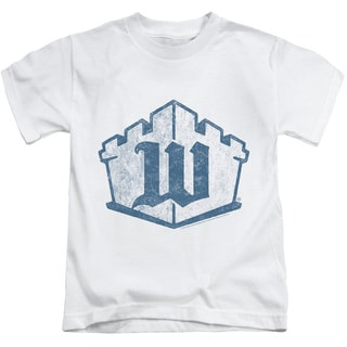 White Castle/Monogram Short Sleeve Juvenile Graphic T-Shirt in White