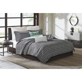 Echo Design Kalea Aqua/ Black Cotton Coverlet Set