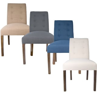 Sole Designs Kacey Allure Set of 2 Button Tufted Upholstered Dining Chairs