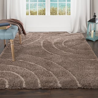 "Lavish Home Everest Shag Sculptured Circles Rug (3'3"" x 5')"