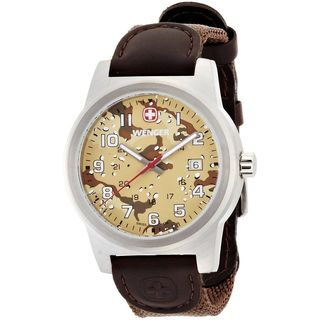 Wenger Men's 01.0441.107 'Field' Camouflage Brown Nylon and Rubber Watch
