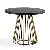 Ink Ivy Mercer Bronze Oval Dining Table Free Shipping