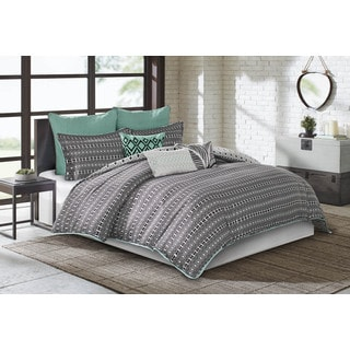 Echo Design Kalea Black Cotton Comforter 4-Piece Set
