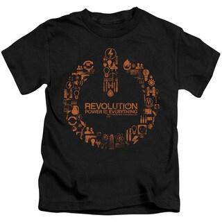 Revolution/Power Logo Short Sleeve Juvenile Graphic T-Shirt in Black