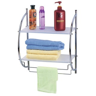 2 Tier Stainless Steel and Plastic Bathroom Organizer
