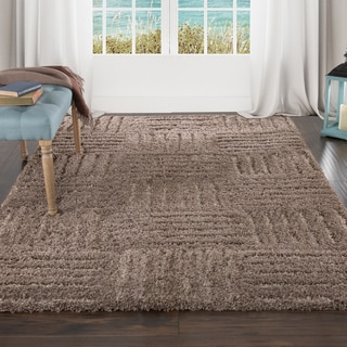 Lavish Home Everest Shag Sculptured Squares Rug (4' x 6')