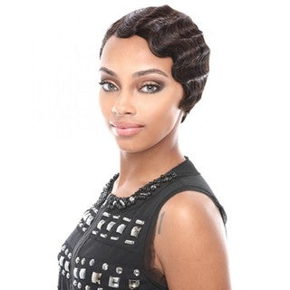 Janet Collection Mommy II Black/Brown 100-percent Remi Human Hair Wig