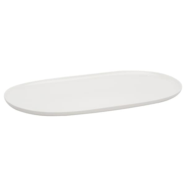 Every Time White Oval Platter