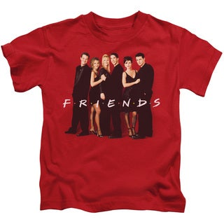 Friends/Cast in Black Short Sleeve Juvenile Graphic T-Shirt in Red