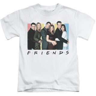 Friends/Cast Logo Short Sleeve Juvenile Graphic T-Shirt in White