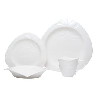 Red Vanilla Clematis White 24-piece Dinnerware Set