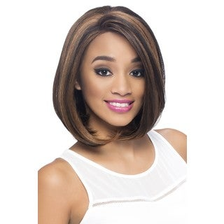 Vivica A. Fox Collection Jinny Opal Style 12-inch Razor-cut Bob With Swiss Lace Part