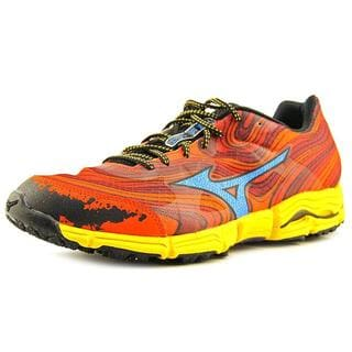 Mizuno Men's Wave Kazan Red Mesh Athletic Shoes