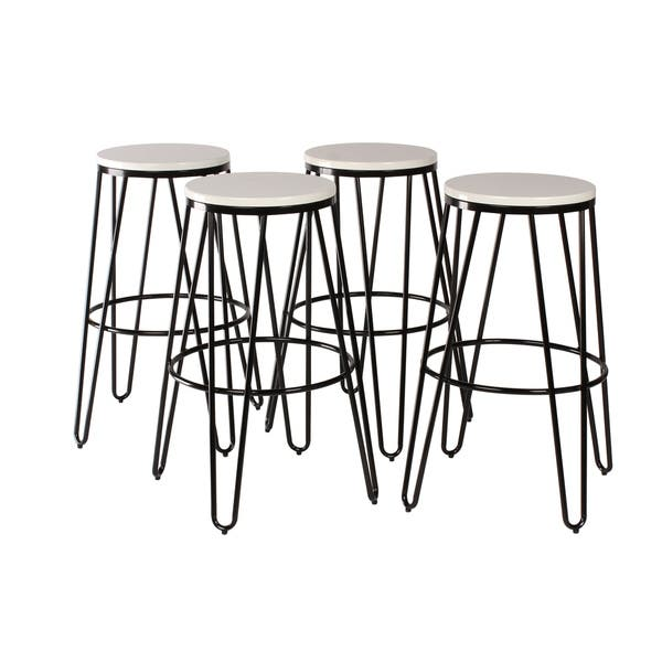Remarkable Shop Carbon Loft Hall Backless Two Tone Wood And Metal Bar Machost Co Dining Chair Design Ideas Machostcouk