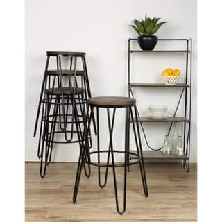 Kate and Laurel Tully Backless Two-tone Wood and Metal Bar Stools (Set of 4)|https://ak1.ostkcdn.com/images/products/12408569/P19227990.jpg?impolicy=medium