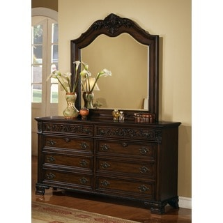 LYKE Home Kenny Dark Espresso Dresser and Mirror Set