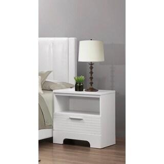 LYKE Home Moda White 1-drawer Nightstand