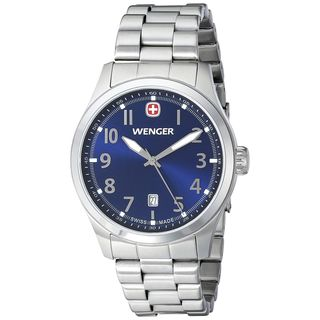 Wenger Men's 01.0541.118 'Terragraph' Stainless Steel Watch