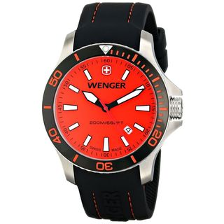 Wenger Men's 01.0641.111 'Sea Force' Black Silicone Watch