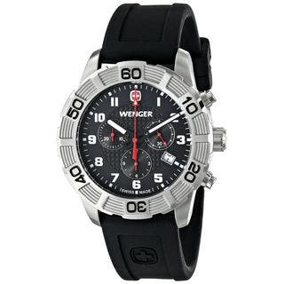 Wenger Men's 01.0853.101 'Roadster' Chronograph Black Silicone Watch|https://ak1.ostkcdn.com/images/products/12408620/P19228145.jpg?impolicy=medium