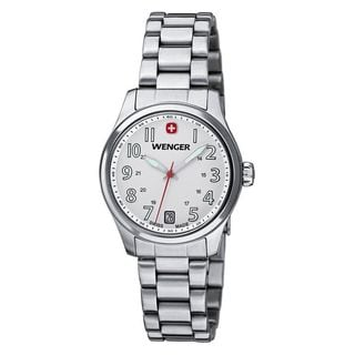 Wenger Women's 01.0521.102 'Terragraph' Stainless Steel Watch