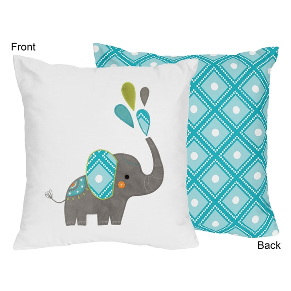 Decorative Accent Throw Pillow for the Mod Elephant Collection by Sweet Jojo Designs. Opens flyout.