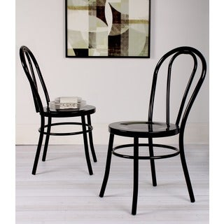 Kate and Laurel Twain Vintage Modern Metal Accent Dining Chairs (Set of 2)