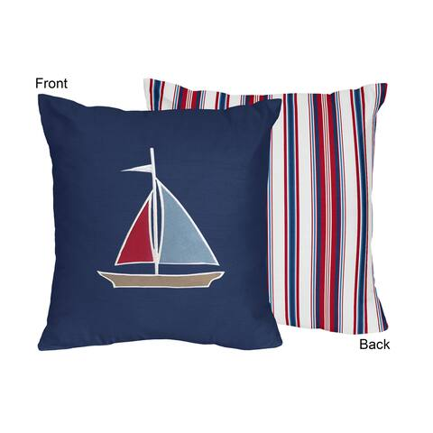Sweet Jojo Designs Nautical Nights 16-inch Decorative Accent Throw Pillow