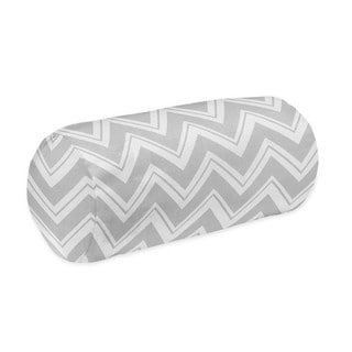 Sweet Jojo Designs Grey and Turquoise Blue Zig Zag Decorative Accent Bolster Throw Pillow