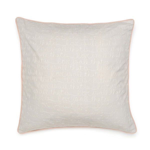 Under the Canopy Organic Cotton Love is All That Is European Square Sham
