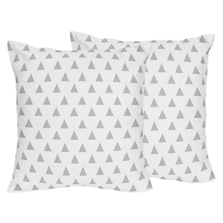 Sweet Jojo Designs Grey and Mint Mod Arrow Print Decorative Accent Throw Pillow (Set of 2)