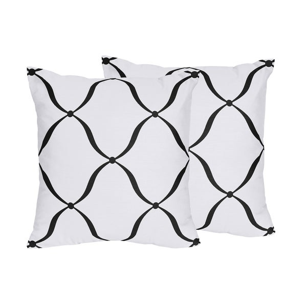 Sweet Jojo Designs Black White Purple Princess Decorative Accent Inspiration Princess Decorative Pillows