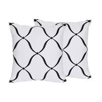 Sweet Jojo Designs Black/ White/ Purple Princess Decorative Accent Throw Pillow (Set of 2)