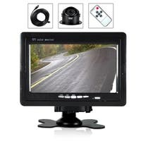 Pyle PLCMTR70 Waterproof Angle Night Vision, Front or Rear Vehicle Mounting Rearview Backup Camera and Video Monitor System Kit