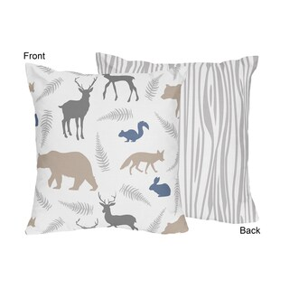 Sweet Jojo Designs Woodland Animals Decorative Accent Throw Pillow